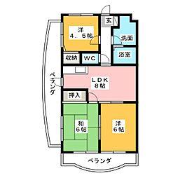 フレサII[2階]の間取り