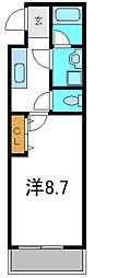 京阪本線 守口市駅 徒歩7分の賃貸アパート 2階1Kの間取り