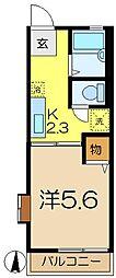 シティハイムカトレアB[1階]の間取り