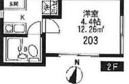 東京都豊島区千早1の賃貸アパートの間取り
