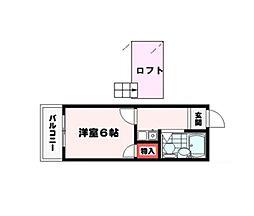 埼玉県川越市諏訪町の賃貸アパートの間取り
