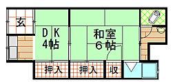 [テラスハウス] 大阪府大阪市此花区春日出北3丁目 の賃貸【/】の間取り