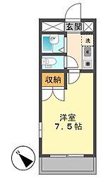 リバーコート千代田[2階]の間取り