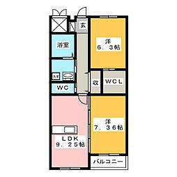 グランIII[4階]の間取り