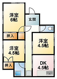 [一戸建] 千葉県東金市家徳 の賃貸【/】の間取り