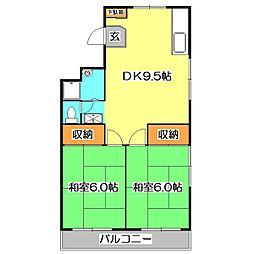 東京都西東京市東町1丁目の賃貸マンションの間取り