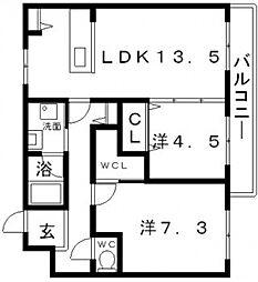 ケンズコート[2階]の間取り