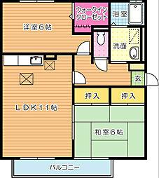 グランシャリオ B棟[2階]の間取り