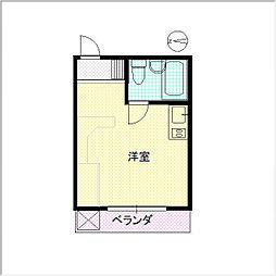 繁楽荘[307号室]の間取り