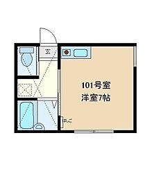 OGAコート[101号室]の間取り