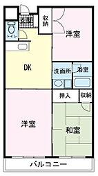 アビタシオン富士岡[00302号室]の間取り