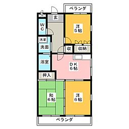 白沢田園マンション[4階]の間取り