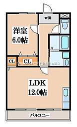 OKハイツ5号館[4階]の間取り