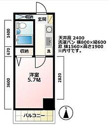 アルス笹塚[204号室]の間取り