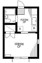 ホクタンハウス[101号室]の間取り