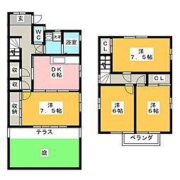 [一戸建] 岐阜県羽島市竹鼻町飯柄 の賃貸【/】の間取り