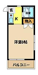 埼玉県さいたま市中央区下落合7丁目の賃貸アパートの間取り