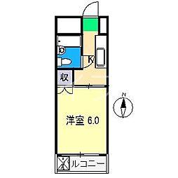 永国寺ハイツ[3階]の間取り