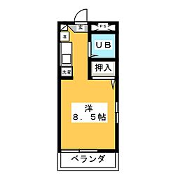 エクセランスオグラ[1階]の間取り