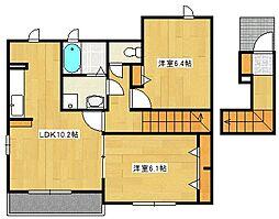 ファインピーク高須台[2階]の間取り