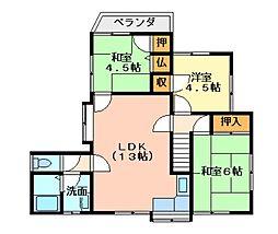 広島県呉市吉浦潭鼓町の賃貸アパートの間取り