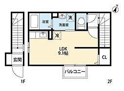 サニーヒルズ天籟寺II[2階]の間取り