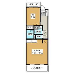 パークホーム江向[3階]の間取り