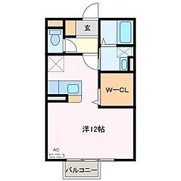 マルカート松阪[1階]の間取り