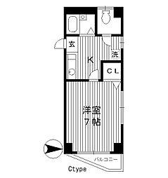 東京都練馬区豊玉北の賃貸マンションの間取り