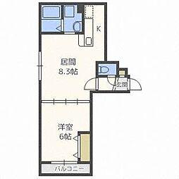 フリーダムコート栄通16[1階]の間取り