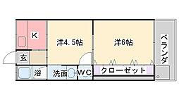 大塚住宅[102号室]の間取り