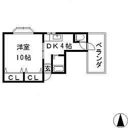 エミネントダイキ[201号室号室]の間取り