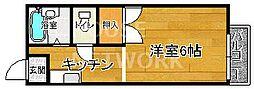 シティハイツ本山[205号室号室]の間取り