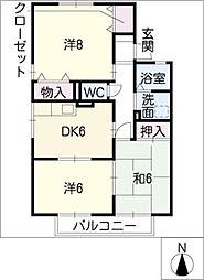 アーバンライフ豊川B棟[1階]の間取り
