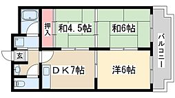 三番町マンション 3階3DKの間取り