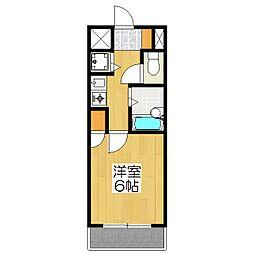 リーガル京都御所西1[504号室]の間取り