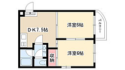 愛知県名古屋市瑞穂区軍水町2丁目の賃貸マンションの間取り