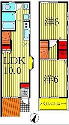 ディアス五香[2階]の間取り