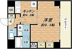 will Do堺筋本町[7階]の間取り