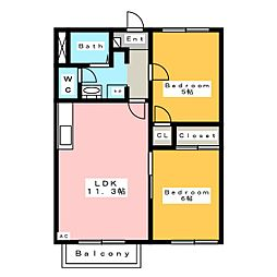 プレメゾーンいとう A棟[2階]の間取り