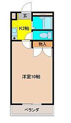 埼玉県鴻巣市大間3丁目の賃貸アパートの間取り