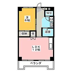 長瀬マンション I棟[2階]の間取り