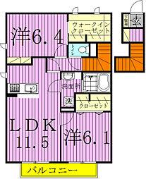 ハウス四季II[2階]の間取り