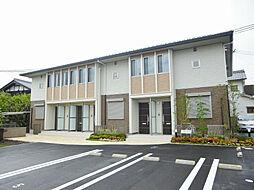 滋賀県大津市西の庄の賃貸アパートの外観