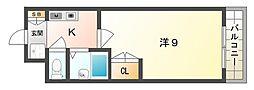 カトルセゾンF[5階]の間取り