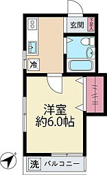 リステリアアサヒ[2階]の間取り