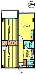 第二彦田マンション[4階]の間取り