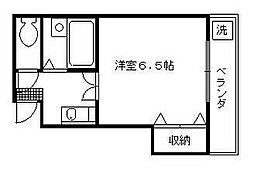 京都府京都市東山区石泉院町の賃貸アパートの間取り
