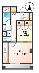 プライムメゾン東桜[3階]の間取り