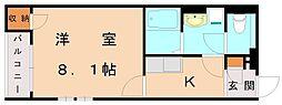 クレイノ東田[1階]の間取り